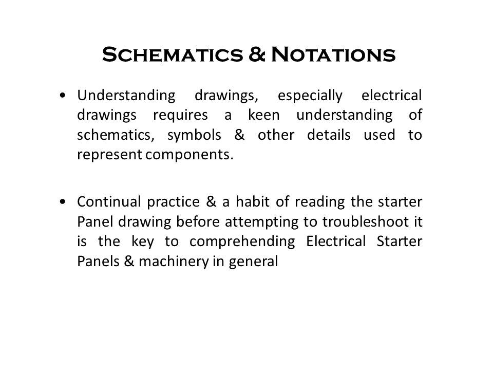 Schematics & Notations