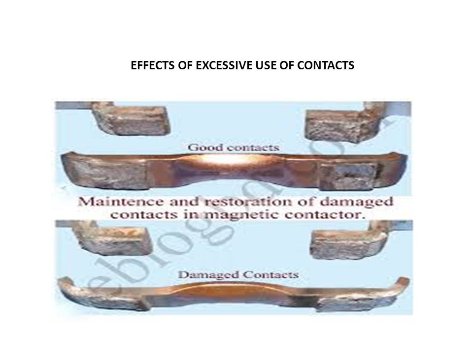 EFFECTS OF EXCESSIVE USE OF CONTACTS