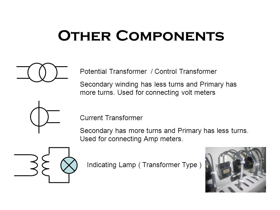Other Components Potential Transformer / Control Transformer