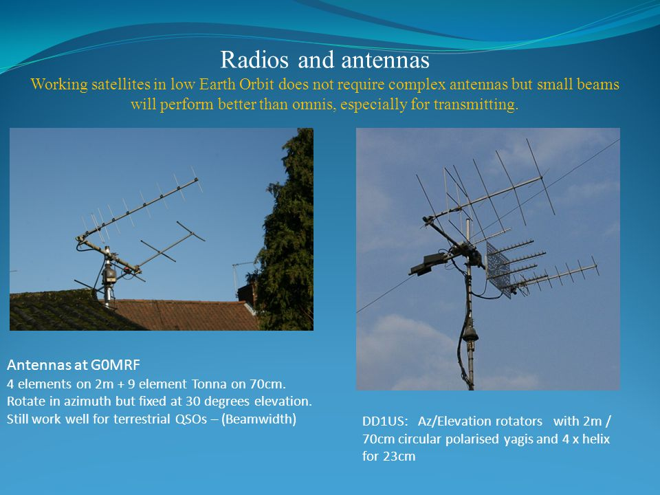 Earth Work In Elevation : A beginner s guide to amateur radio satellites ppt video
