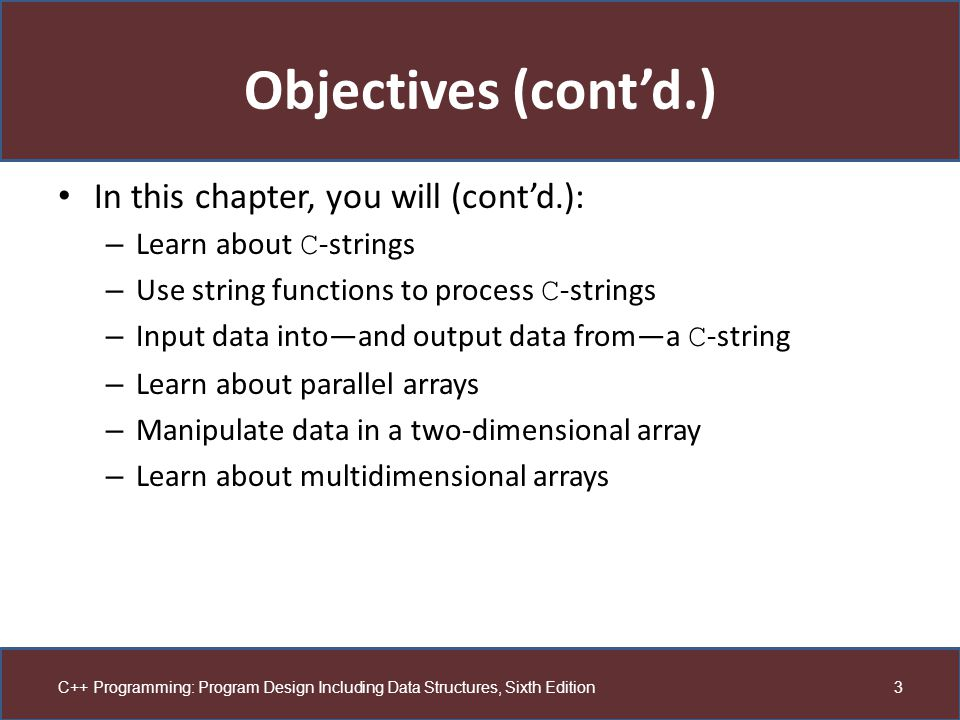 Objectives (cont'd.) In this chapter, you will (cont'd.):