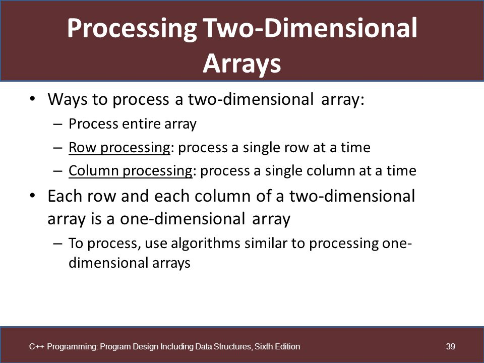 how to use one-dimensional triangular array