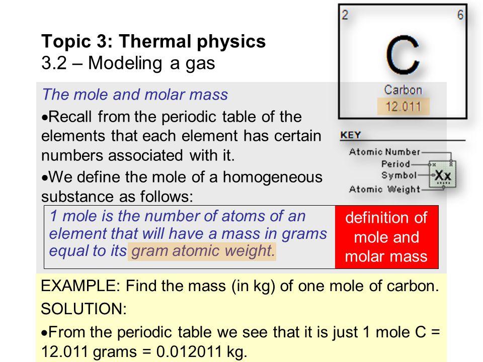 Oxygen Gas One Mole Of Oxygen Gas Has A Mass Of
