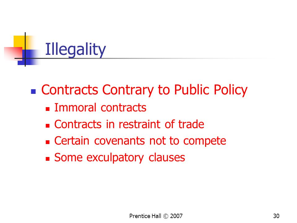 Illegality Contracts Contrary to Public Policy Immoral contracts