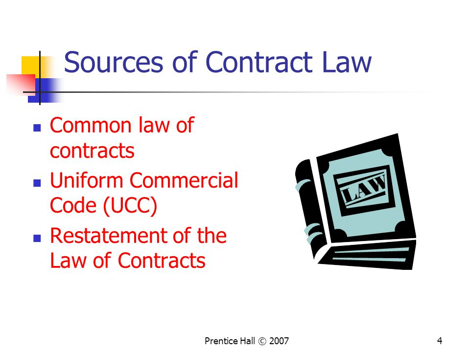 Sources of Contract Law