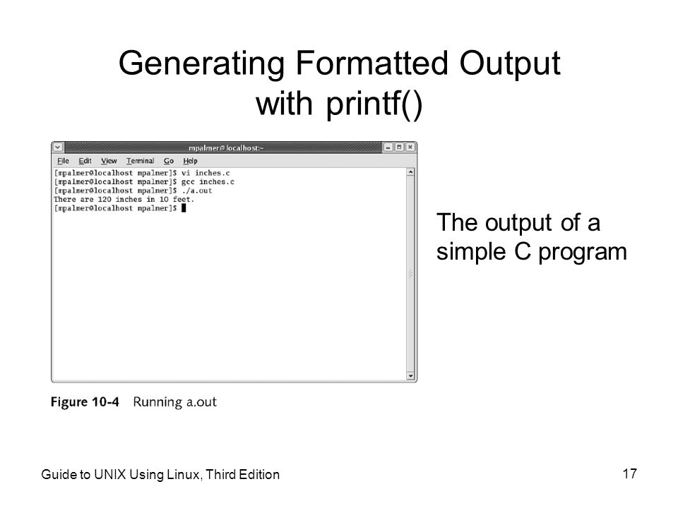 Generating Formatted Output with printf()