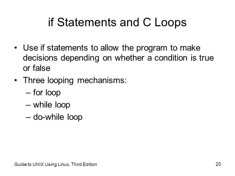 if Statements and C Loops