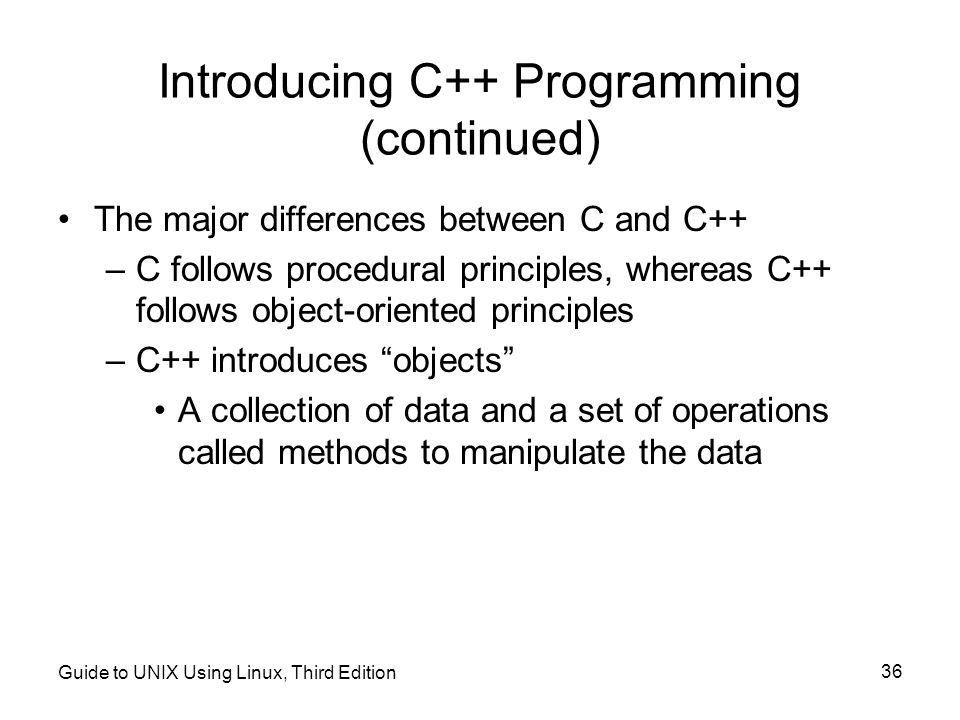 Introducing C++ Programming (continued)