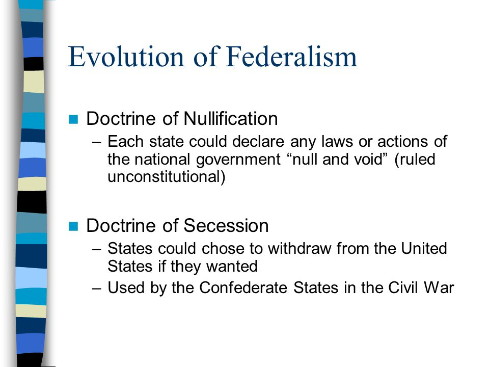 the evolution of federalism Canada and australia share a common institutional legacy, with constitutions that combine the power distributing impulse of federalism with the concentration of authority associated with parliamentary government.