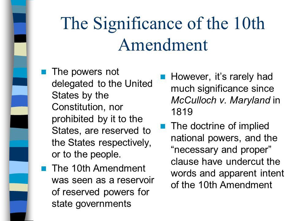 the importance of the american amendments The americans with disabilities act amendments act of 2008 on september 25, 2008, the president signed the americans with disabilities act amendments act of 2008 (ada amendments act or act) the act emphasizes that the definition of disability should be construed in favor of broad coverage of individuals to the maximum extent permitted by.