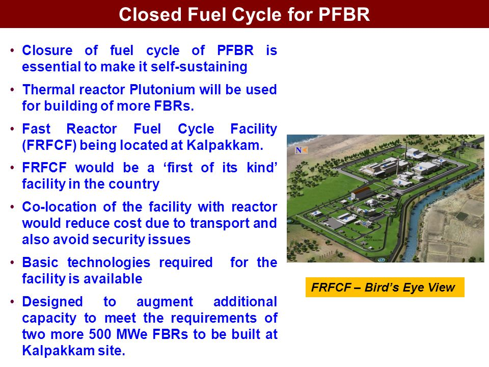 Closed Fuel Cycle for PFBR