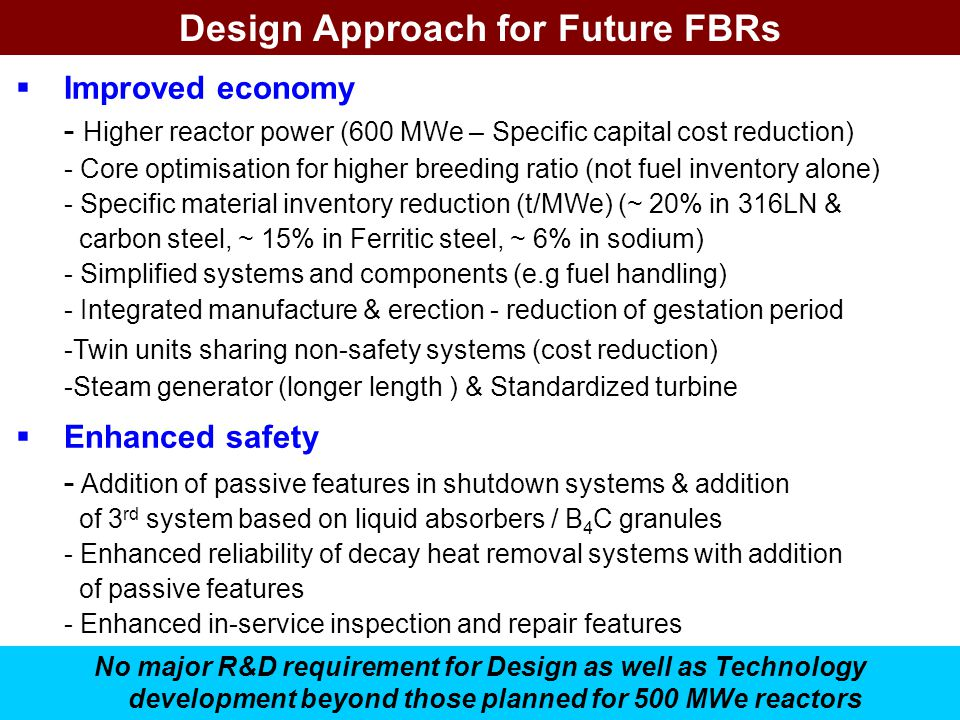 Design Approach for Future FBRs