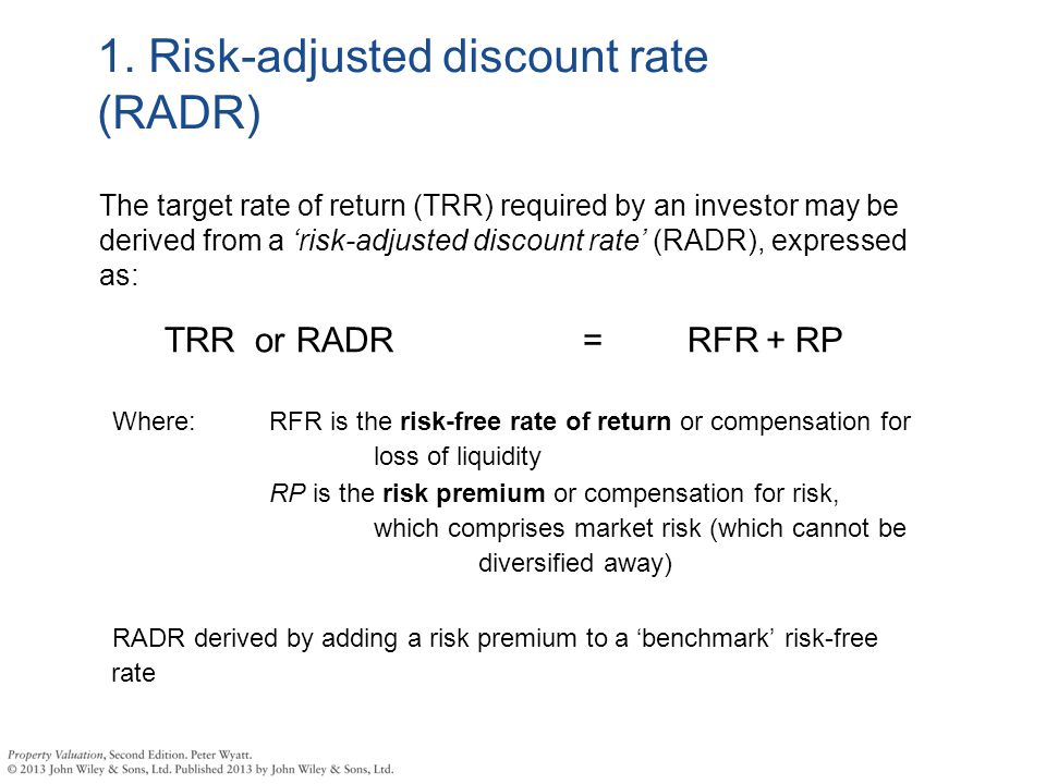 risk adjusted discount rate Risk-adjusted discount rate: read the definition of risk-adjusted discount rate and 8,000+ other financial and investing terms in the nasdaqcom financial glossary.