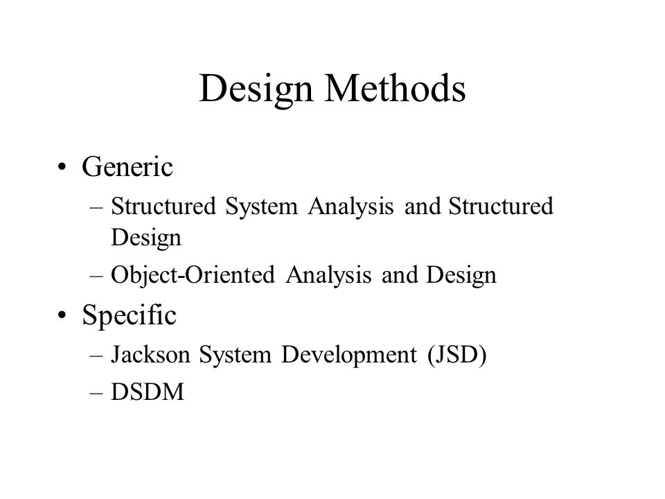 structured systems analysis and design method pdf