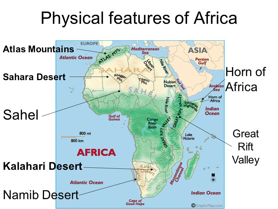 Physical Geography Of Africa Ppt Video Online Download - Map of africa physical