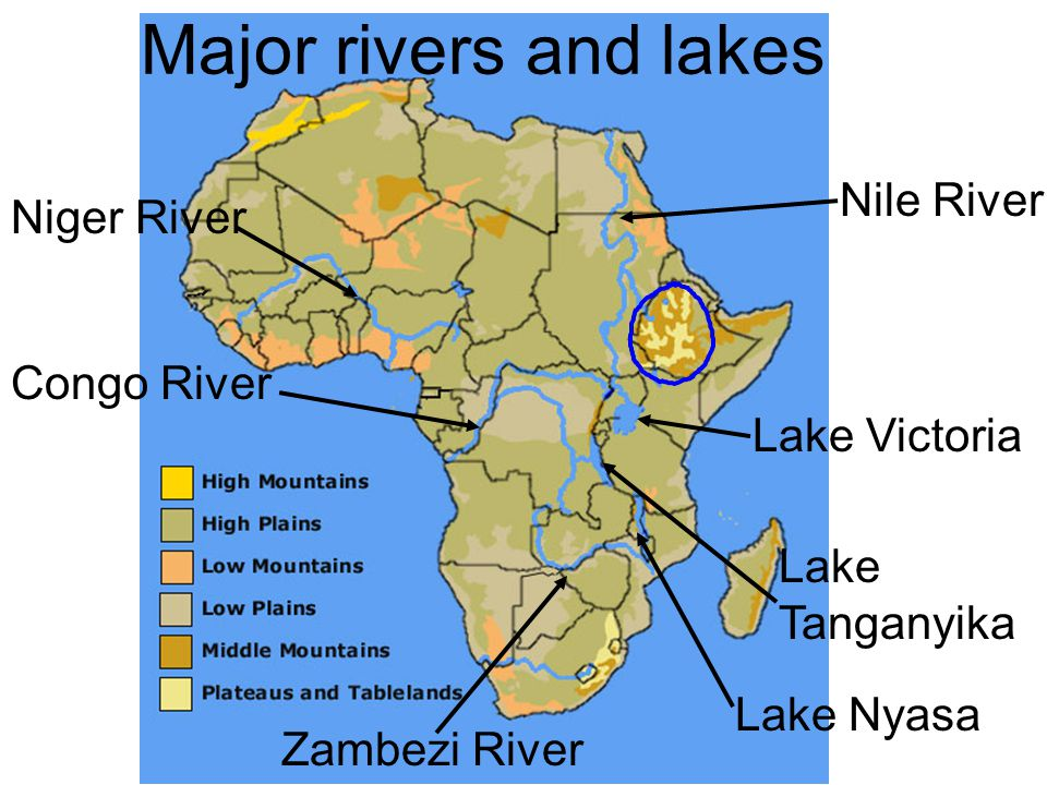 Physical Geography Of Africa Ppt Video Online Download - Important rivers in africa