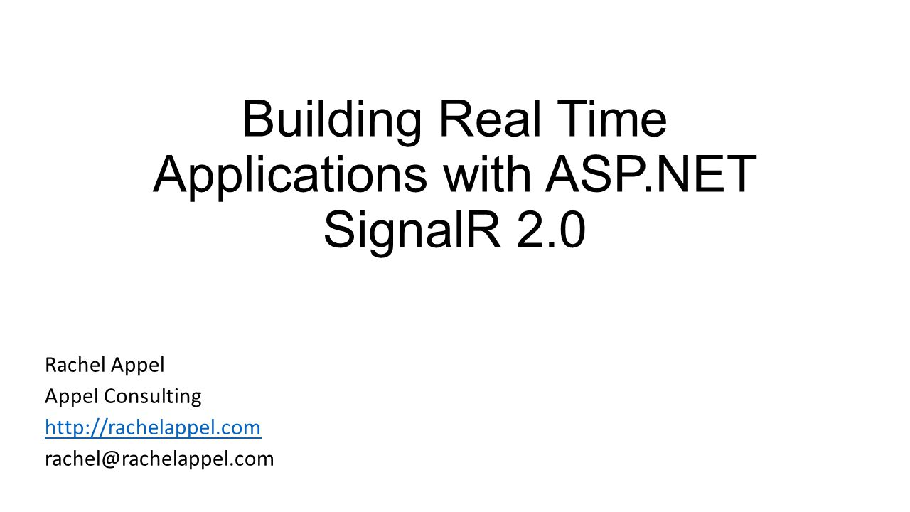 Building real time applications with asp signalr ppt download building real time applications with asp signalr 20 baditri Choice Image