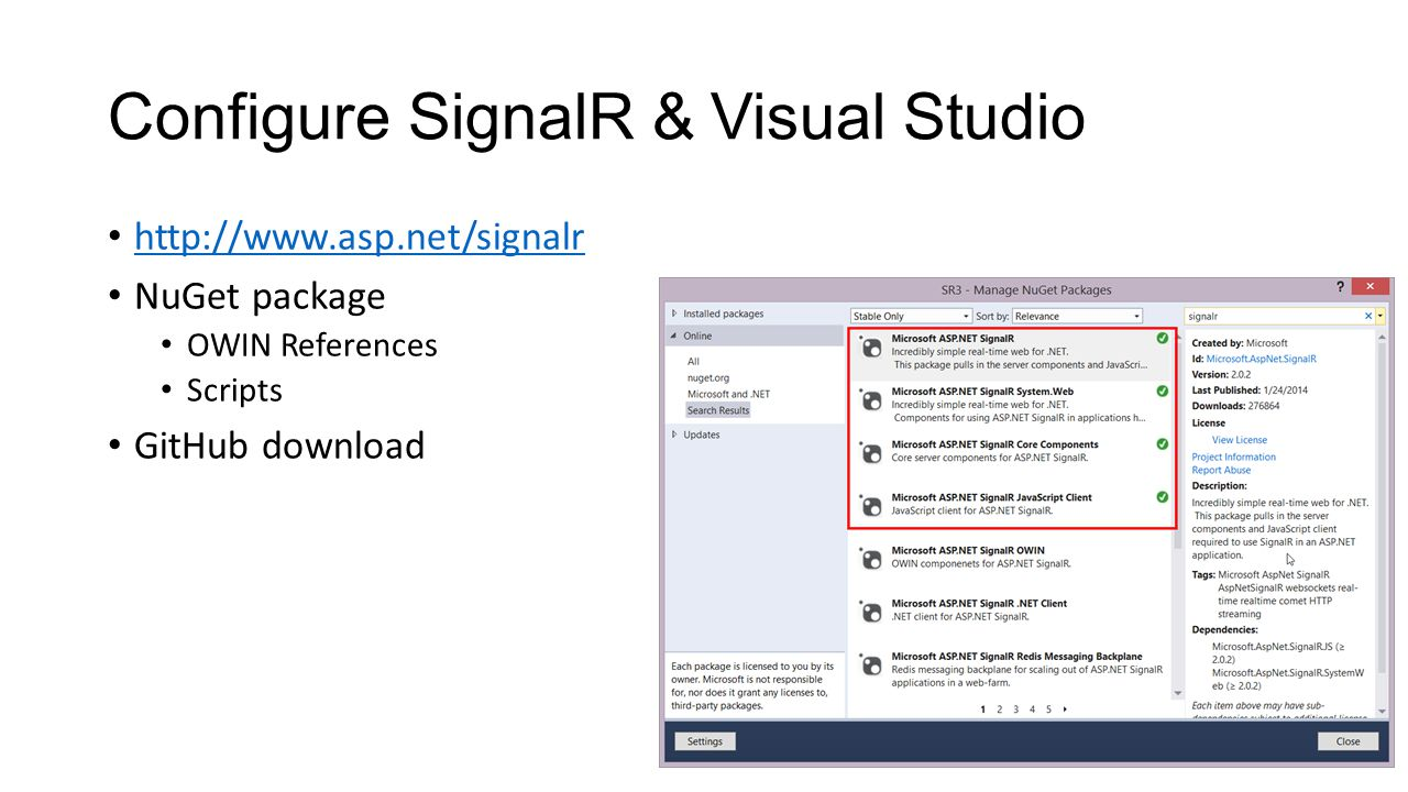 Building real time applications with asp signalr ppt download 8 configure baditri Choice Image