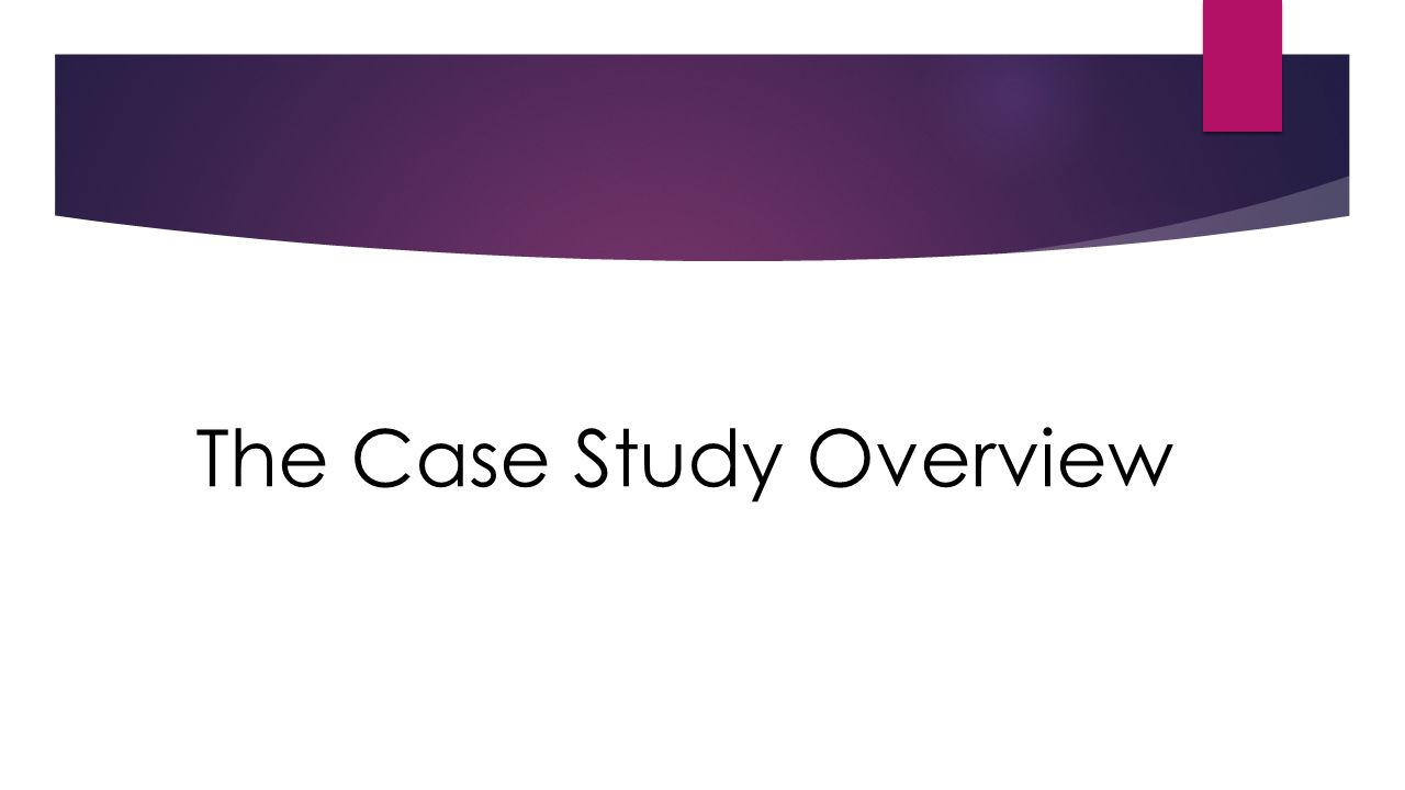 The Case Study Overview