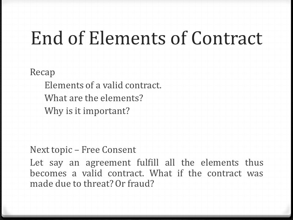 Certainty Of Contract. - Ppt Video Online Download