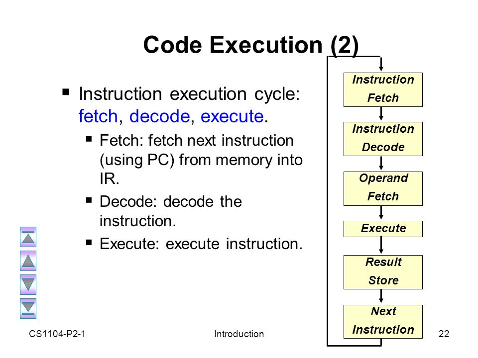 Cs1104 computer organisation ppt video online download Execute c code