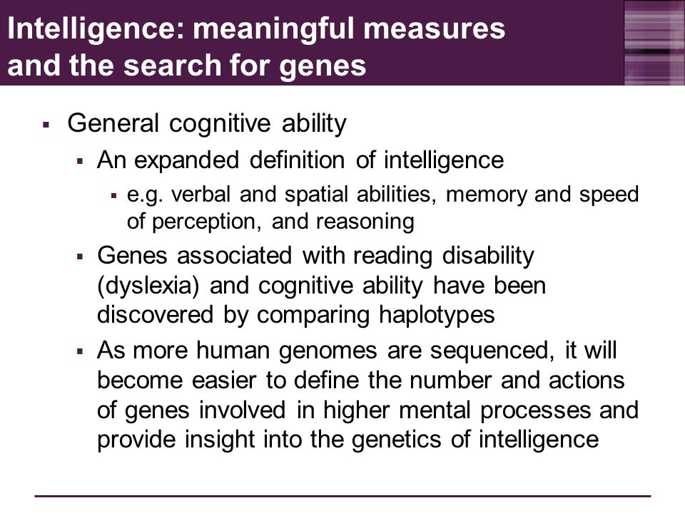 an analysis of genetic and environmental factors in intelligence Start studying genetic and environmental influences/ intelligence learn vocabulary, terms, and more with flashcards, games, and other study tools.