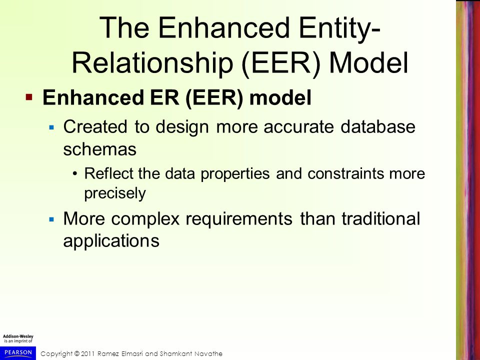 The Enhanced Entity-Relationship (EER) Model