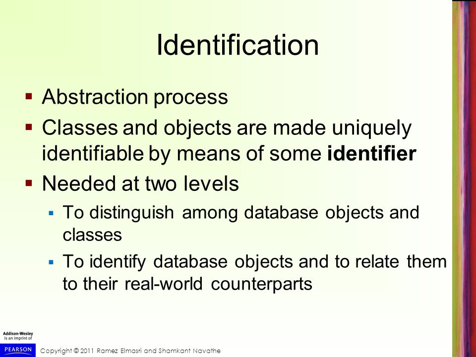 Identification Abstraction process