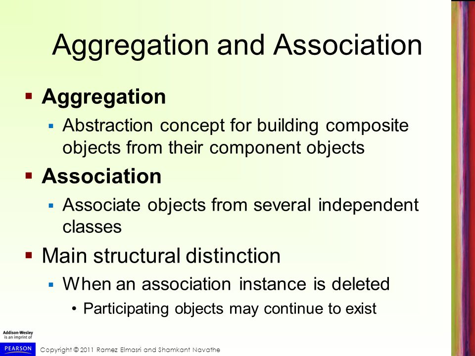 Aggregation and Association