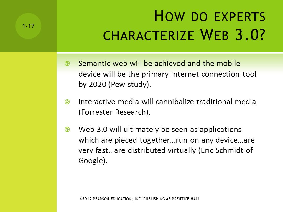 How do experts characterize Web 3.0