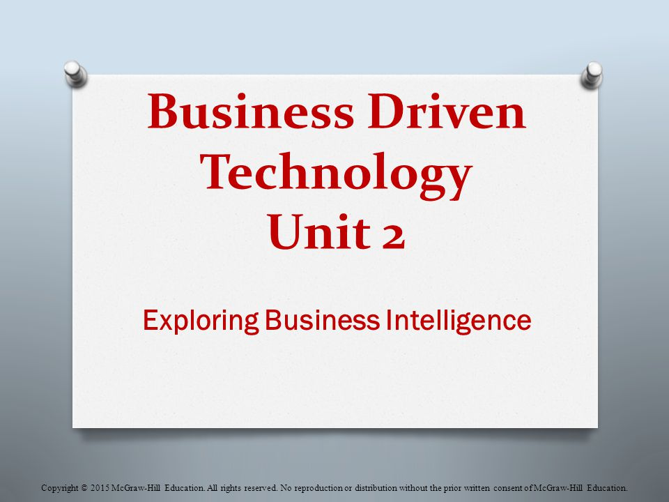 Business Driven Technology Unit 2
