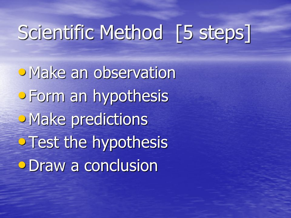 Scientific Method [5 steps]