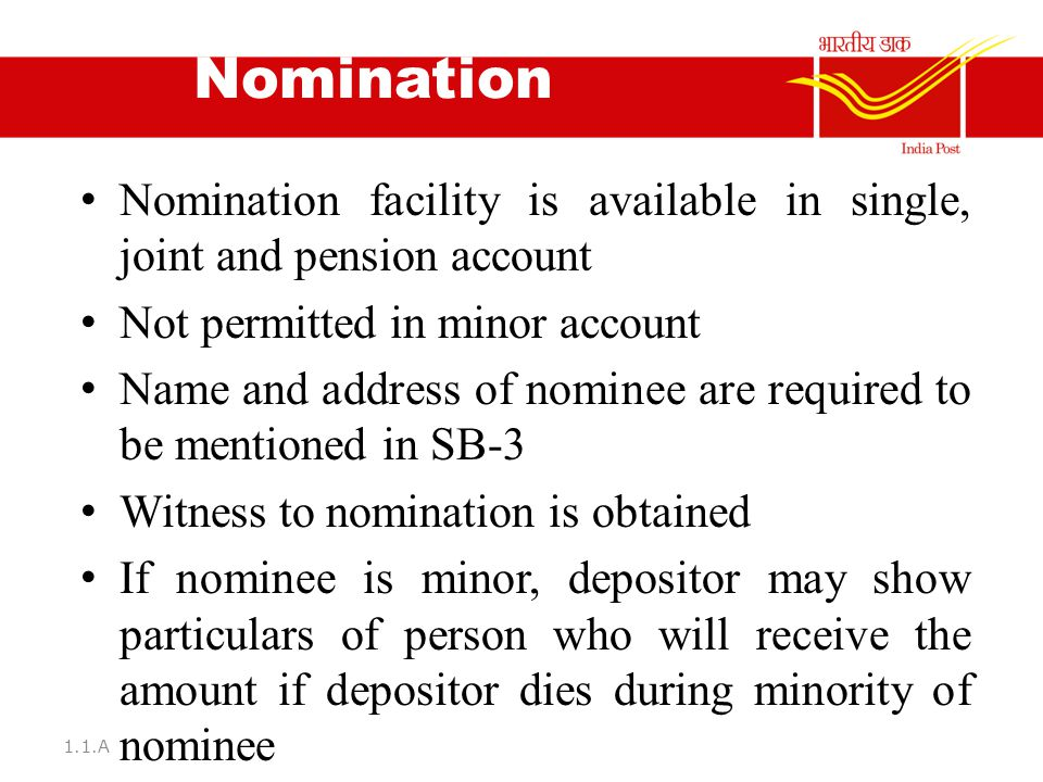 Implementation of the following norms in the post offices ppt download - Post office joint account ...
