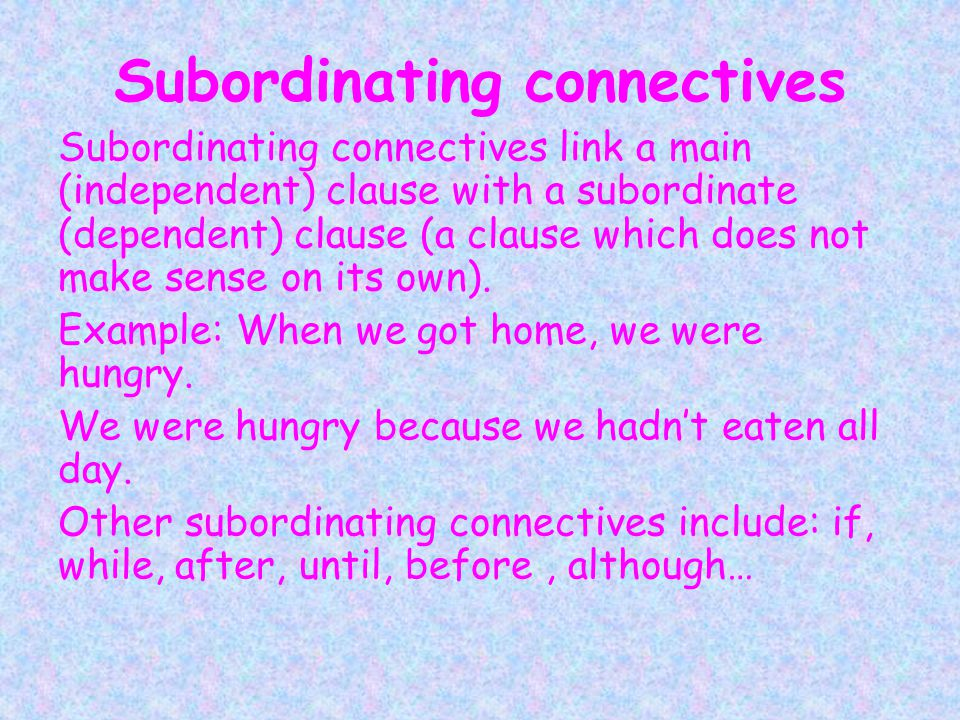 Subordination as well Adpencil Poster besides Slide further Dependent Clauses further Tab Adverbs Clauses. on subordinating conjunctions