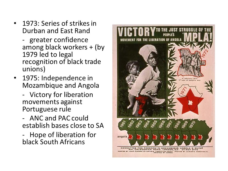 1973: Series of strikes in Durban and East Rand