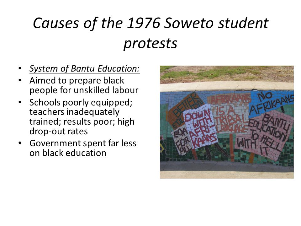 Causes of the 1976 Soweto student protests