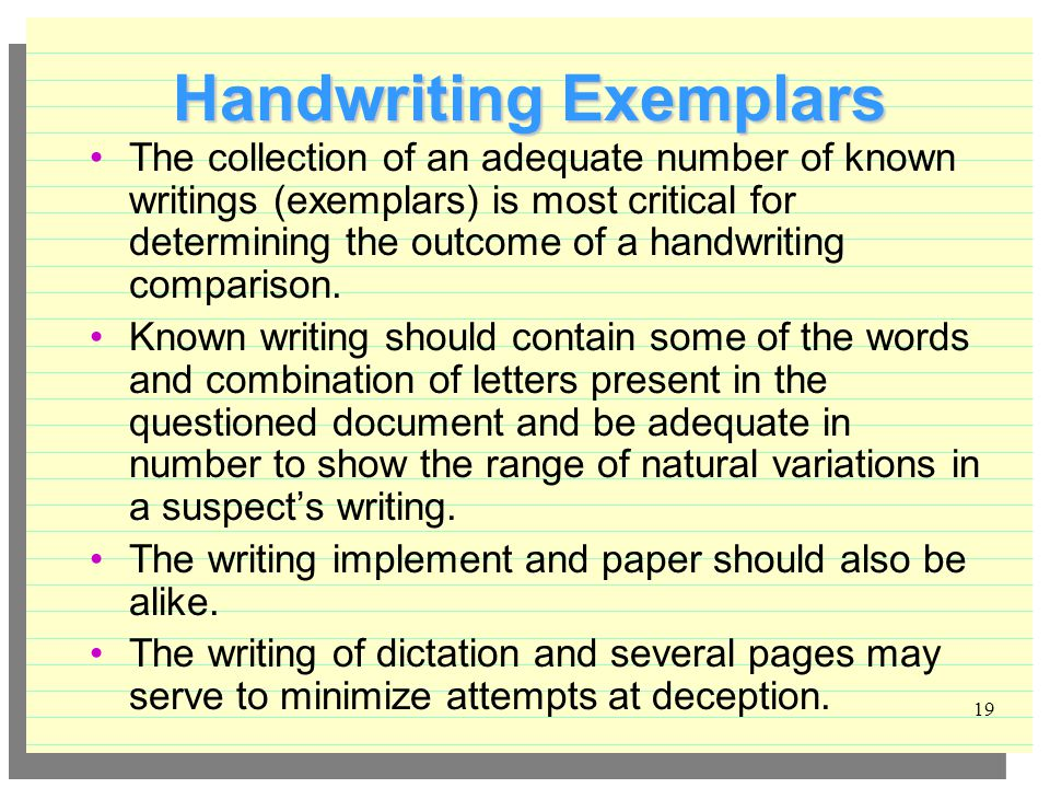 Handwriting Comparison Ppt Video Online Download