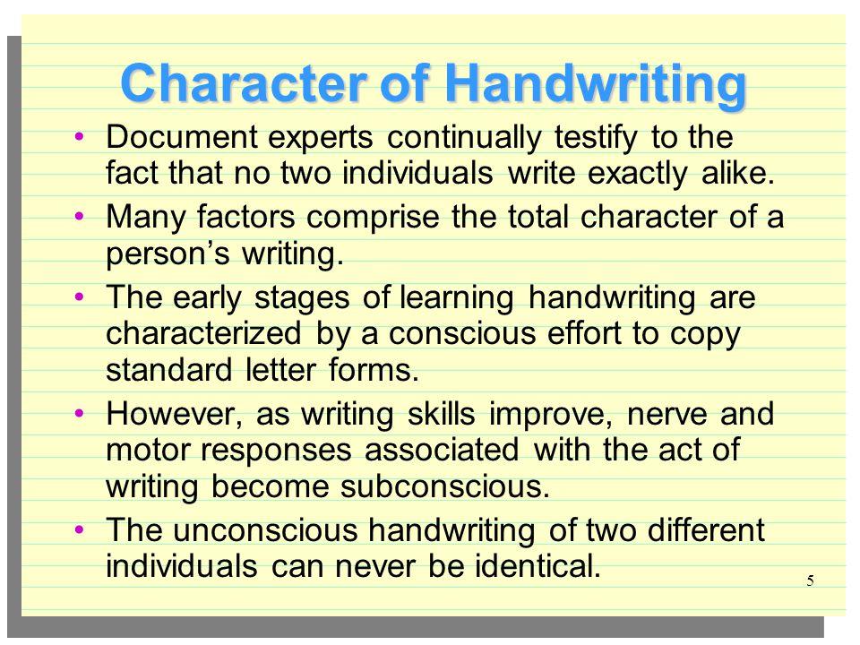 Handwriting Comparison - ppt download