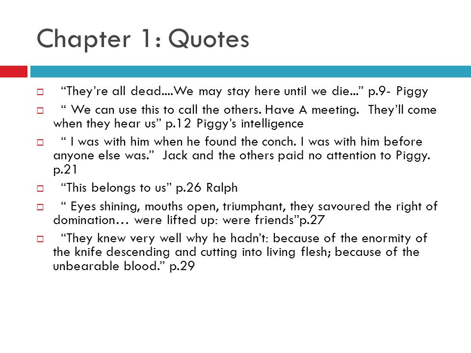 Quotations describing ralph from lord of the flies essay