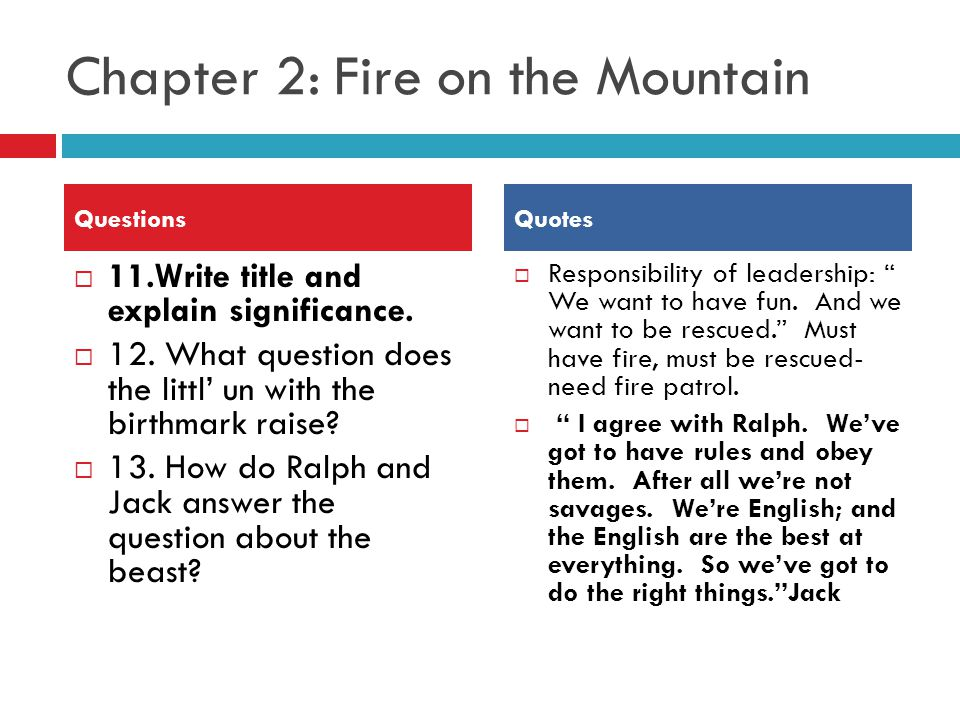 fire on the mountain book summary