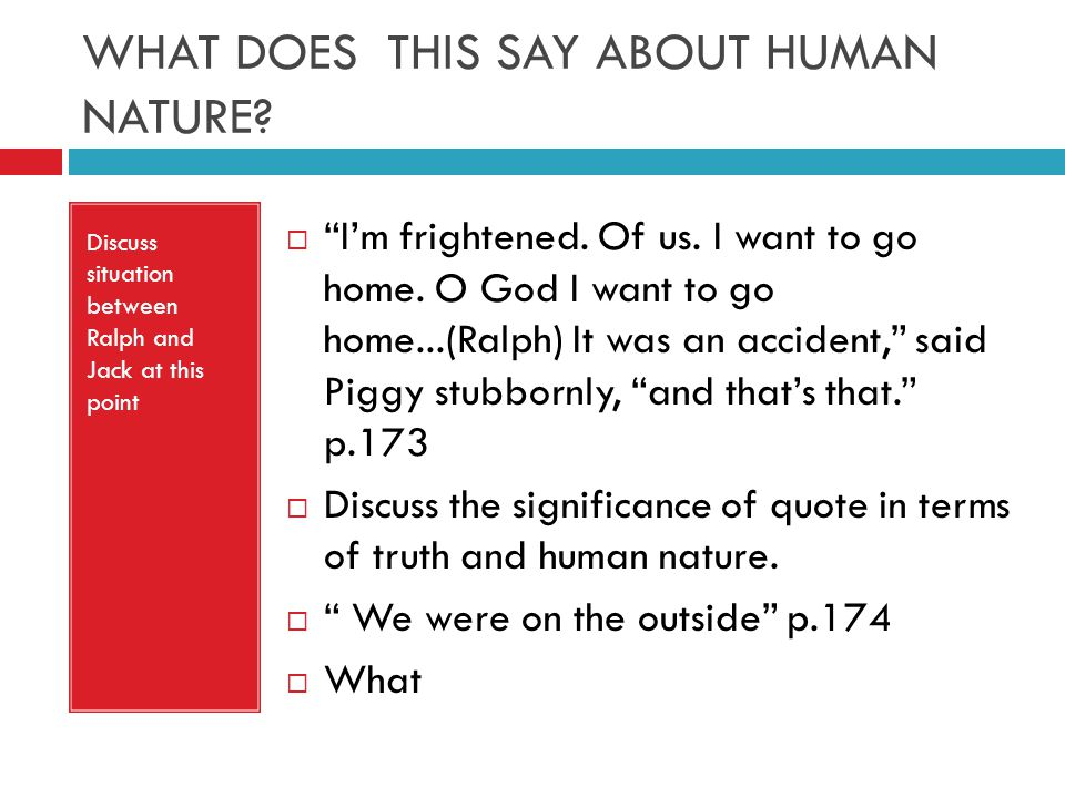lord of the flies essay about human nature