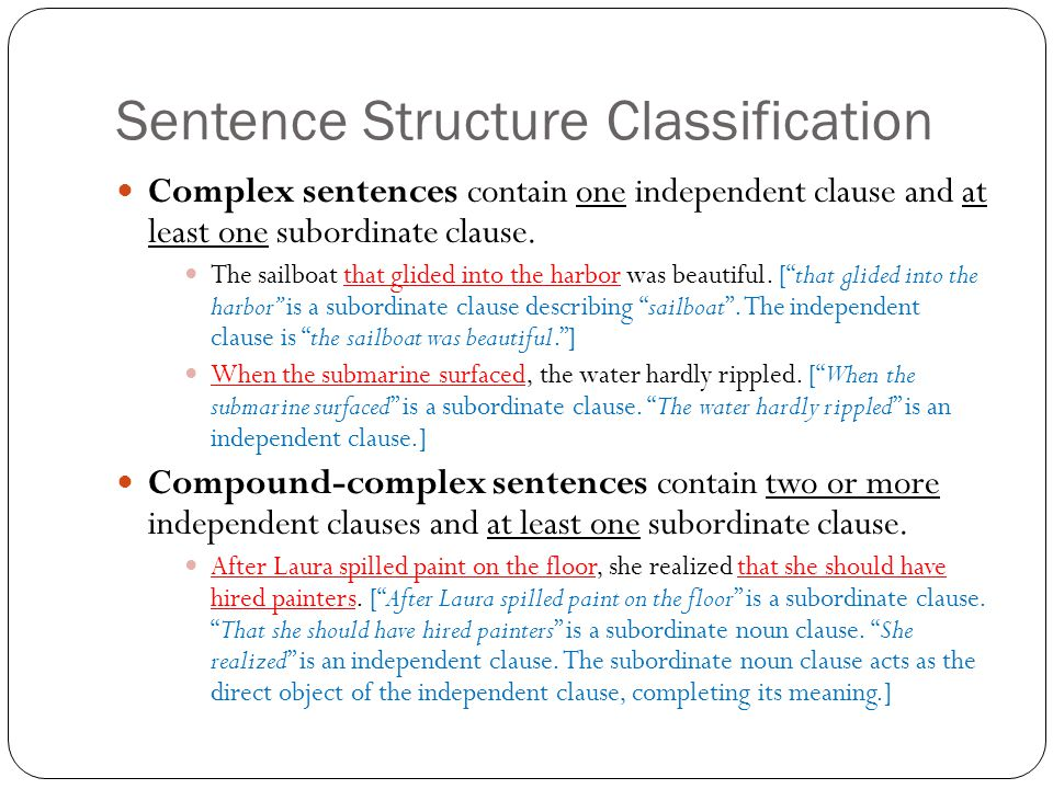 Sentence Structure Classification