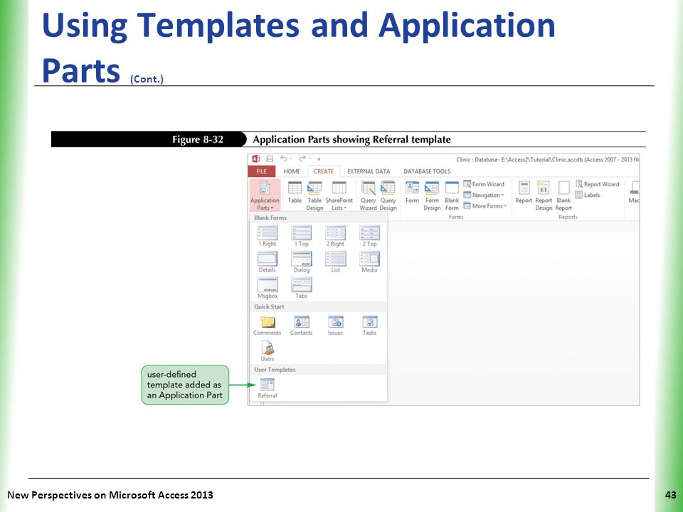 ms access templates 2013 - tutorial 8 sharing integrating and analyzing data ppt