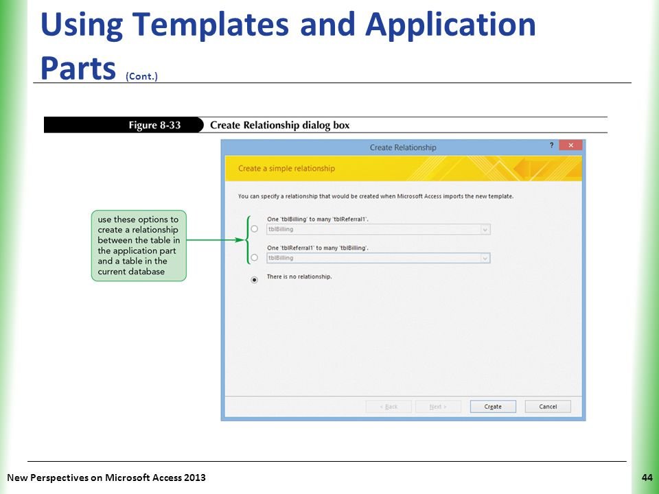 Using Templates and Application Parts (Cont.)