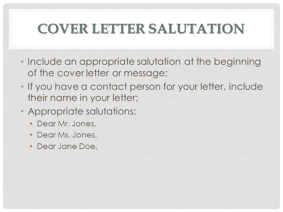 Salutations For Cover Letter - Gse.Bookbinder.Co