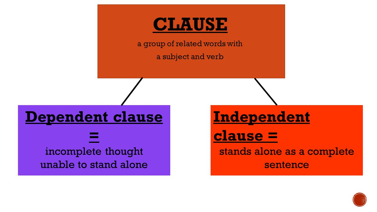 independent and dependent clauses pdf