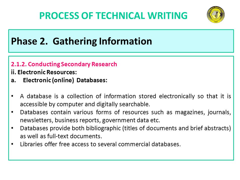 process of technical writing Contents: • the technical writing process – 1 general principles • 2 technical writing: the research report: organisation: • title • abstract.
