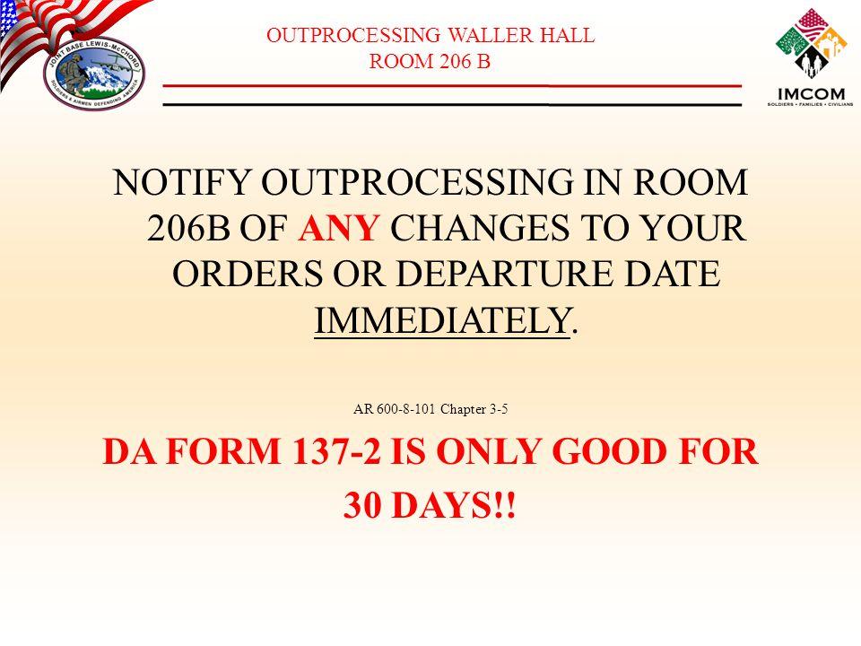 OUTPROCESSING WALLER HALL - ppt download
