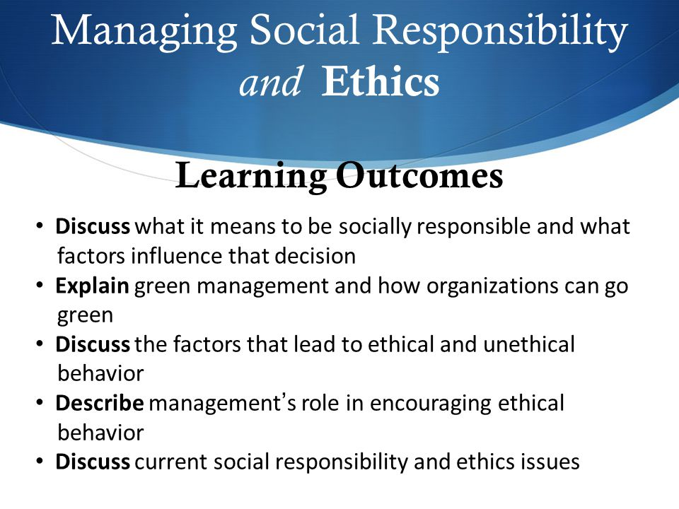 ethics and social responsibilities essay A definition of corporate social responsibility business essay student name :  nguyen viet dung student id : 1111/9193 matriculation no : mba 7002.