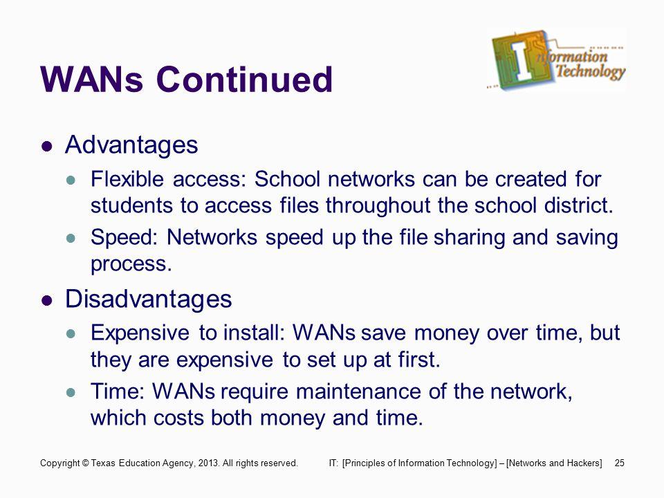 advantages and disadvantages of wan pdf